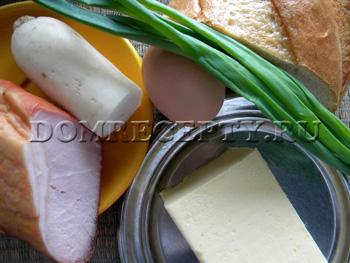 Фаршированный батон - фото рецепт - ингредиенты