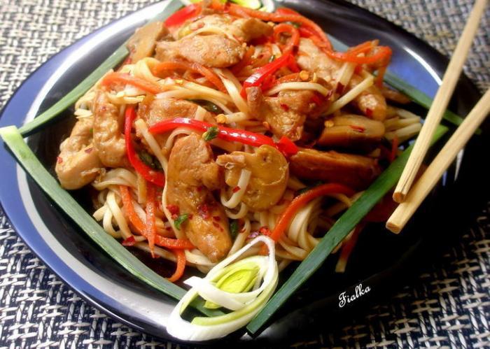 рецепт блюд из курицы с лапшой на второе