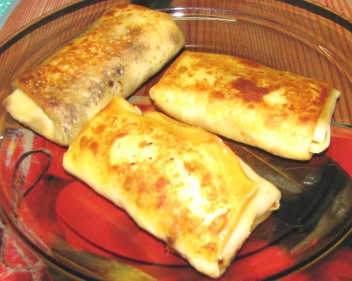 блинчики с капустой рецепт с фото