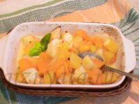 Тыква с яблоком и апельсином