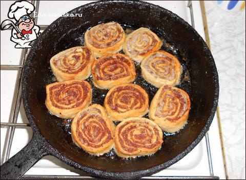 Рулет мясной в тесте в духовке рецепт пошагово 3