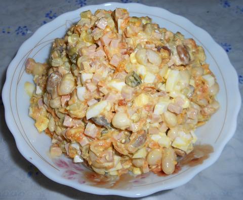 Блюда из вареной фасоли