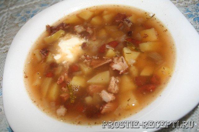 Суп картофельный с фасолью