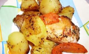 Курица с овощами по-провански