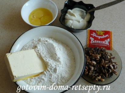 домашнее печенье с орехами