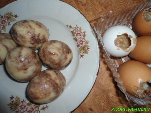 Кремовые яйца на Пасху