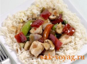 Новогодний рецепт блюдо китайской кухни курица с соусом тэрияки