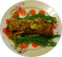 Мясо на косточке, запеченное в фольге