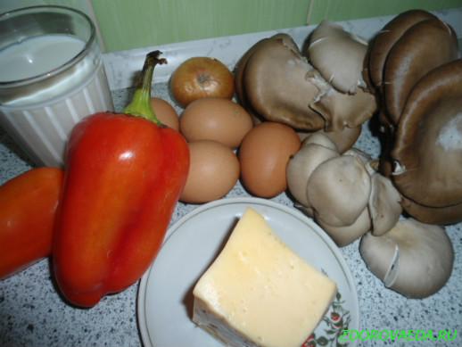 Пирог киш с грибной начинкой