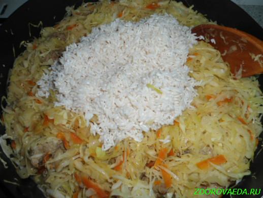 тушеная капуста с рисом калорийность