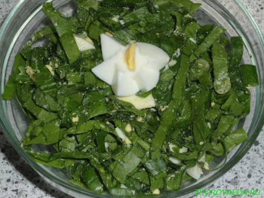 Рецепты приготовления салатов из зелени