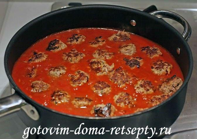 фрикадельки в соусе рецепт с фото