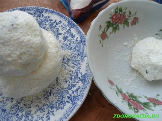 Вкусный рецепт из творога «Снеговик»