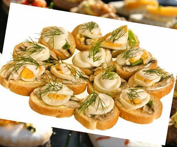 Рецепты канапе бутерброды холодные закуски баклажаны фото