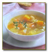 Суп с рисом и тыквой