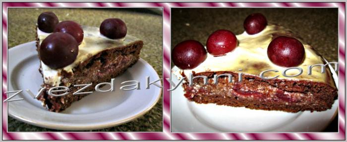 торты рецепты с фото легкие в приготовлении пьяная вишня