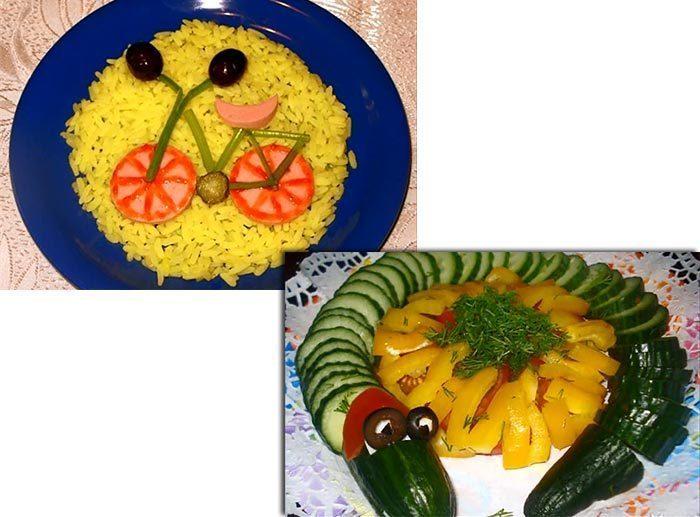 Детские блюда оформление
