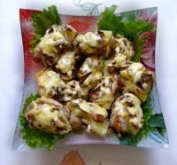 Мясо с оливками и ананасом. Немного экзотики