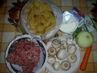 Макароны, фаршированные мясом