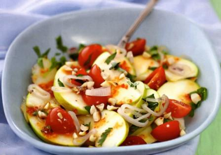 как приготовить вкусный салат из яблок