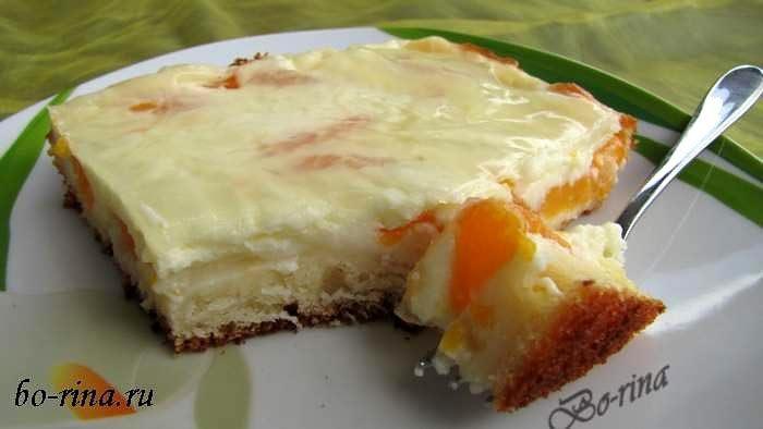Schmandkuchen - сметанный пирог с мандаринами