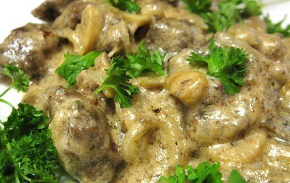 Куриная печень со сливками рецепт на сковороде