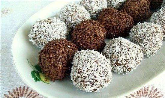 Шоколадные шарики без выпечки
