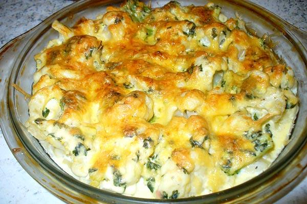 Блюда из цветной капусты с грибами рецепты быстро и вкусно