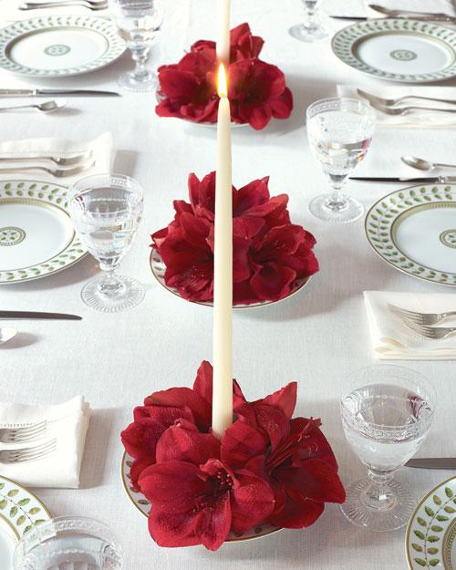 Оформление праздничного стола цветами своими руками