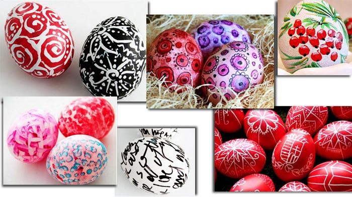 Роспись пасхальных яиц: разные идеи + простые техники росписи пасхальных яиц