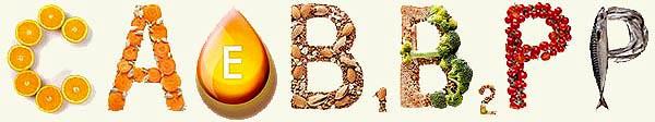 Витамины C A E B1 B2 PP