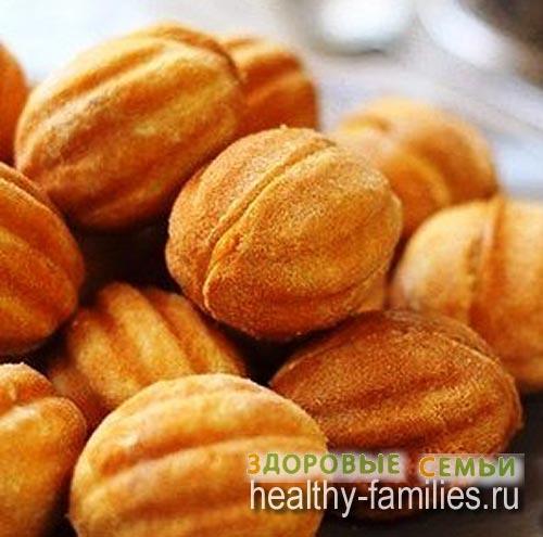 рецепт печенья в форме орешки на газу