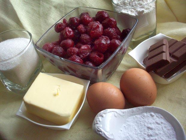 Крамбл рецепт - вишневый крамбл, крамбл с вишней - продукты для вишневого крамбля