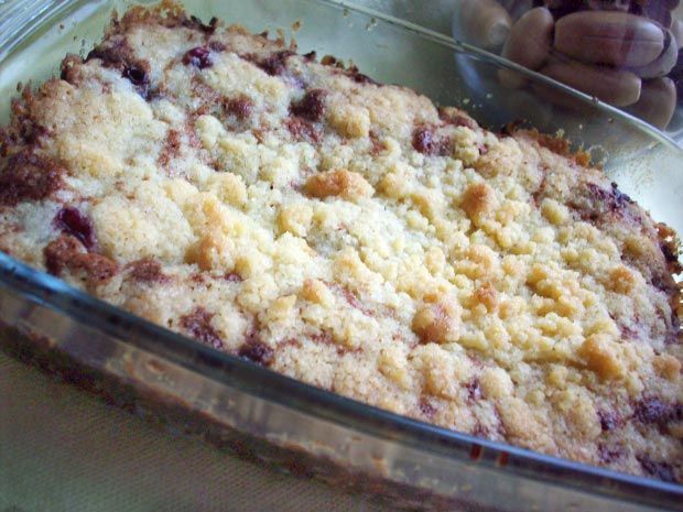 Крамбл рецепт - вишневый крамбл, крамбл с вишней - вишневый крамбль