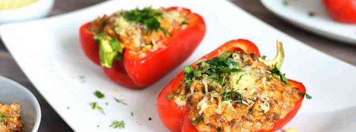Перец фаршированный рецепт в духовке с курицей