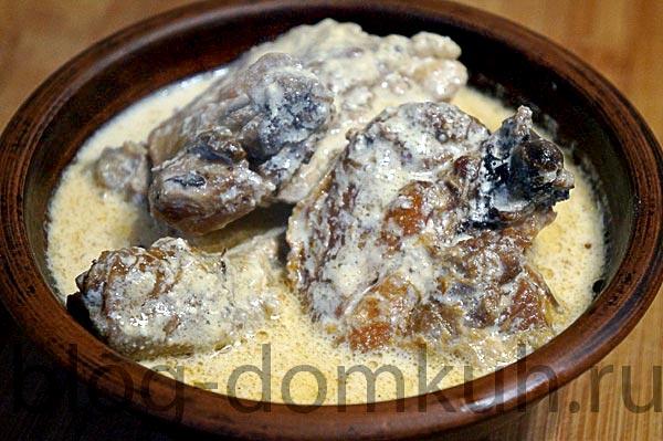 Шкмерули (курица в сливочно-чесночном соусе)