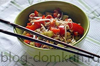 Домашний овощной салат по-вьетнамски