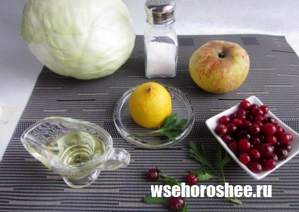 Быстрый салат из свежей капусты ингредиенты