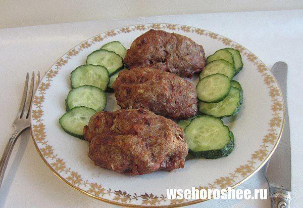 Котлеты в духовке - Котлеты из фарша (говядина, свинина, курица)