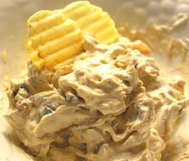 Луковый соус (для чипсов или овощей)