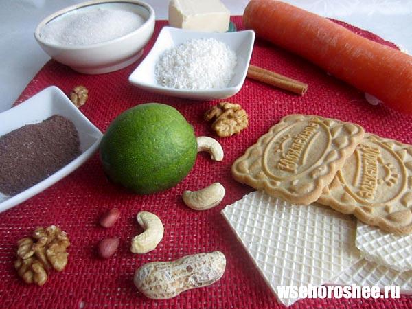 Морковное пирожное - ингредиенты