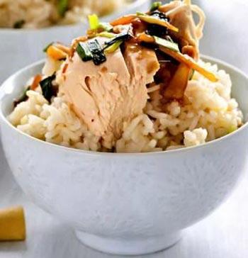 Cингапурский рис с курицей