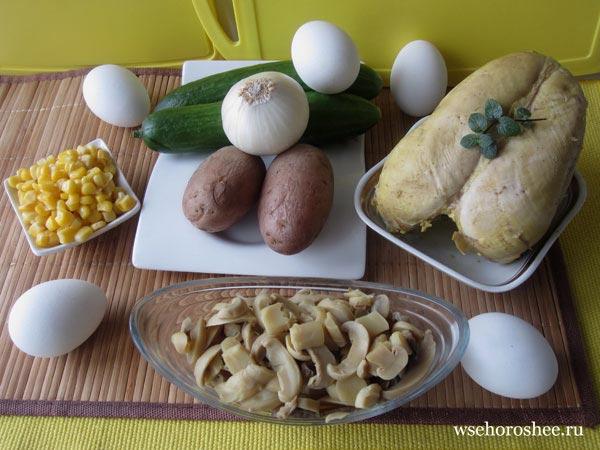 Салат пасхальный кулич рецепт с фото - подготовка