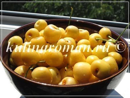 Янтарное черешневое варенье с лимоном и мятой