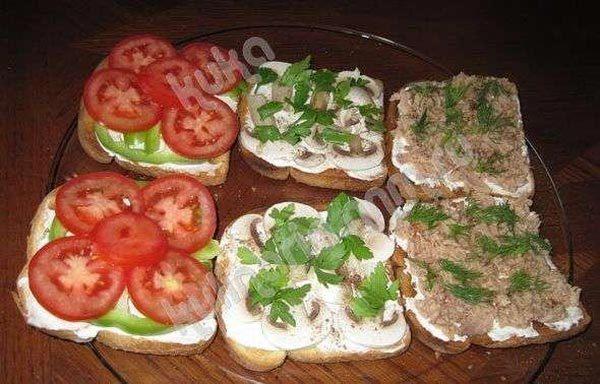 Бутерброды 'Сказка про репку'