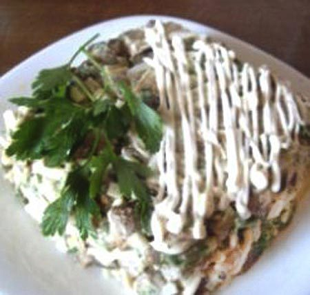 Простые салаты из баклажан