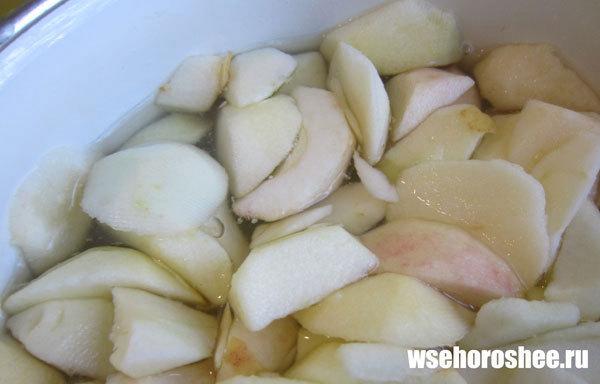 Пюре из яблок в мультиварке на зиму - подготовка