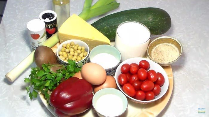 Овощная запеканка с сыром