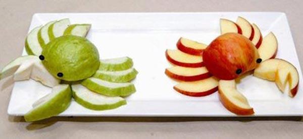 Животные из фруктов своими руками
