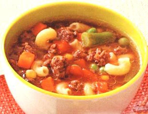 Суп с фаршем мясным фаршем пошаговый рецепт